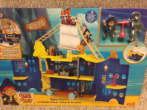 New! Fisher price. Disney Captain jake mighty colossus set