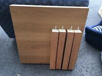 Wood effect coffee table