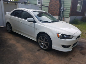 09 lancer with lots of new parts!