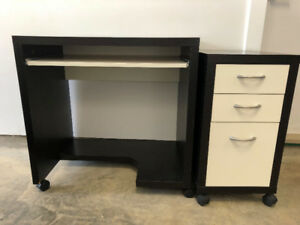 Two Piece IKEA office desk