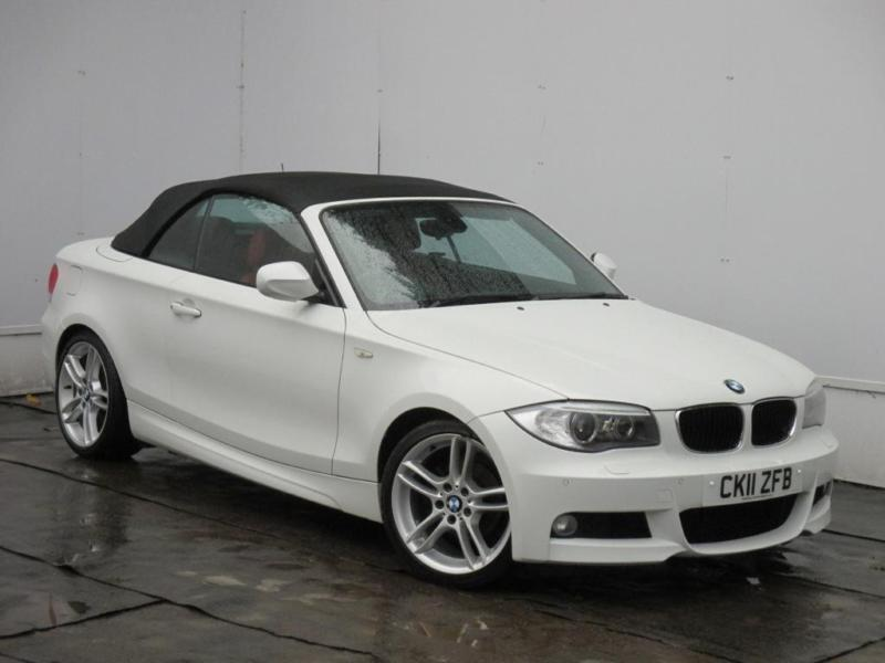 2011 bmw 1 series 118d m sport convertible diesel white manual in cambridge cambridgeshire. Black Bedroom Furniture Sets. Home Design Ideas