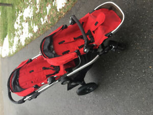 2015 City Select Double Stroller with accessories.