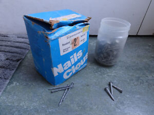 9 lbs. of spiral nails & roofing nails