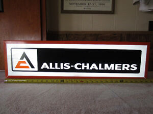 ALLIS CHALMERS TRACTOR LIGHTED SIGN
