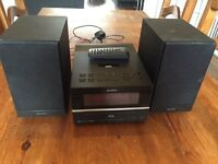 Sony hi-fi system with dab radio and iPod dock
