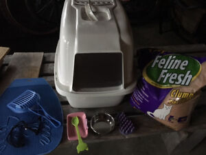 New litterbox and essentials