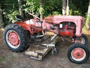 Allis Chalmers CA with woods 6' finish mower