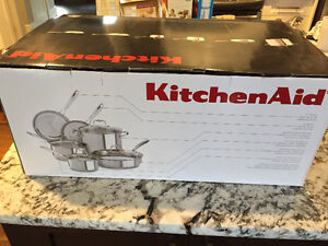 Brand New! KITCHENAID STAINLESS STEAL COOKWARE