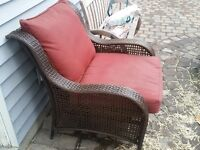 Looking to replace wicker patio chair and wicker table.