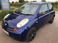 cheap 2003 Nissan Micra 1.0 E - 13 service stamps to 62k miles - drives nice