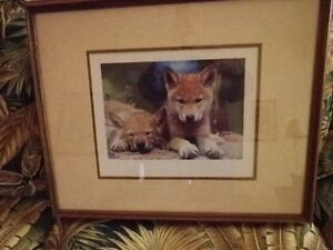 *Wolf Prints, professionally framed and matted, with glass.