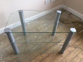 Clear glass TV stand suitable for 32 in TV