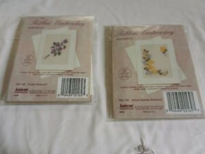 Ribbon Embroidery Beginner Kits - MIB - Yellow Daisies,  Violets