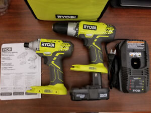 ***Ryobi One+ 18V Drill and Impact Driver Set ** BRAND NEW **