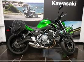 2018 KAWASAKI Z650 ER650HJF in Green Soft fitted Panniers
