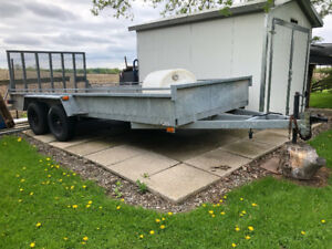 16 foot Galvanized landscape trailer
