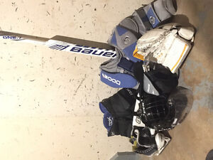 Goalie equipment full set without pads jr