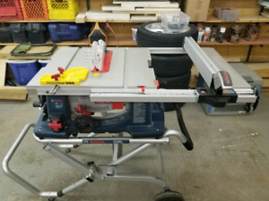 "Bosch 10"" table saw and stand"