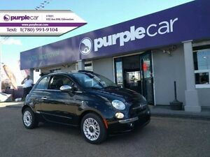 2015 Fiat 500c Lounge Bluetooth leather heated seats Tom tom Nav
