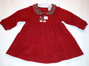 Children's Place Red Scottie Dog Dress 6-9mts NEW /Tags,Sweet!!