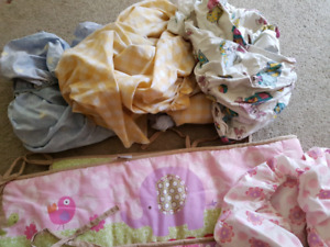 Baby crib bedding and accessories
