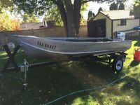 14 Ft aluminum boat,trailer,motor