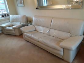 Marinneli Italian Designer Superior Quality Leather 3 Piece Suite £795