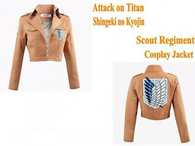 Hot Attack on Titan Scout Regiment Mikasa Ackerman Cosplay Costume Coat Jacket