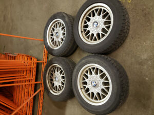 """BMW 16"""" rims with snow tires - 225/55R16"""