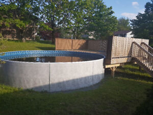 Radient Pool with deck.. cost $25,000 will sell for $6,000