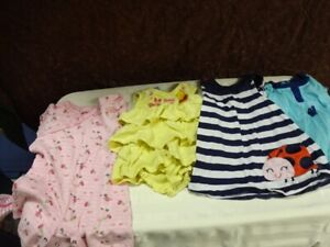 LOT 7  is girls size 12 -24 months clothing