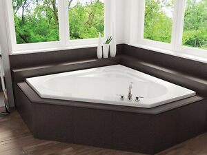 "Mirolin soho 1 Corner Soaker Tub 60""  LIQUIDATION"