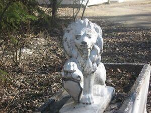 cement lion