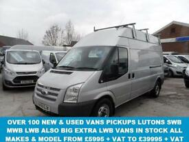 2009 09 FORD TRANSIT 350 LWB VAN 2.4 350 H/R 115 BHP HI TOP 1 OWNER IN SILVER LO