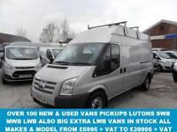 2009 09 FORD TRANSIT 350 LWB VAN 2.4 350 H/R 115 BHP HI TOP 1 OWNER IN SILVER LO