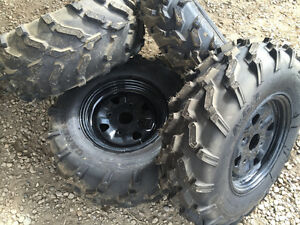 CAN AM TAKE OFF WHEEL TRACTION TIRE AND ALM RIM