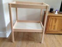 Baby changing table - as new - beech/white
