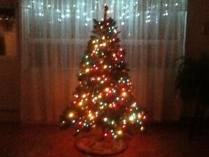 "Pre-Lit 6'5"" Artificial Christmas Tree"