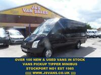 2012 12 FORD TRANSIT 350 LWB 2.2 350 TREND JUMBO 125 BHP IN PANTHER BLACK ONLY 7