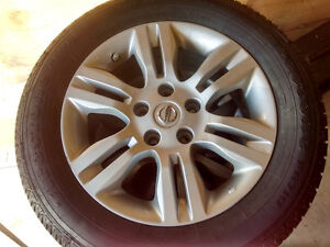 2012 Nissan Altima Alloy rims, with Tires for sale Cambridge Kitchener Area image 1