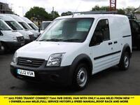2012 FORD TRANSIT CONNECT T200 SWB DIESEL VAN WITH ONLY 14.000 MILES FROM NEW PA
