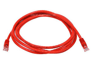 300 6ft Cat5e Network Cable RJ45 Ethernet Crossover Red