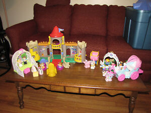 Fisher Price Little People Castle and More