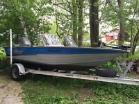 fully welded 17 ft fishing and sky boat 115 HP and kicker