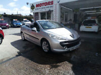 2007 57 PEUGEOT 207 CC 1.6 16v SPORT CONVERTIBLE,120BHP,87000 MILES WITH FSH