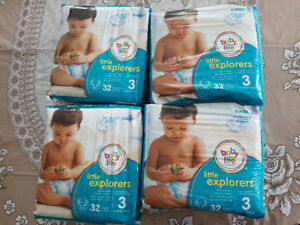 4 pack of pampers size 3