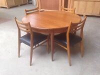 Vintage retro G plan dining table chairs