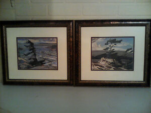 "20"" × 16"" framed pictures set of two land scape"