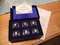 Franklin Mint Flower Napkin Rings