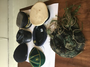Lot of rare hats scouts, military, fetish, biker, Lacoste